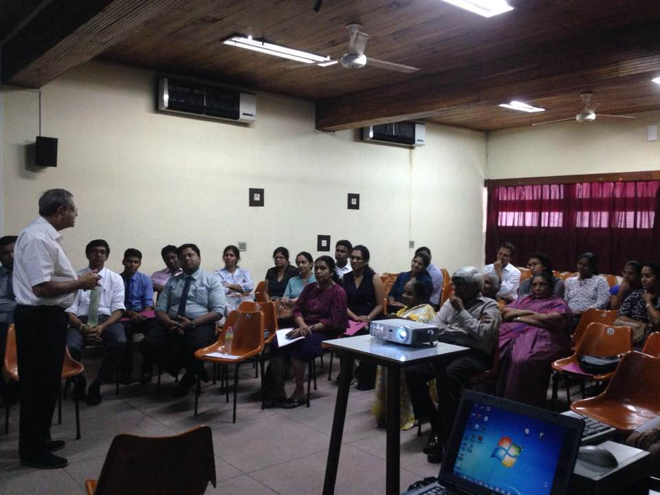 The SLMDA-COSSL Collaborative Communication Skills workshop was held on October 21st, 2017. At the Teaching hospital, Peradeniya, Sri Lanka, This was jointly sponsored by the SLMDA and the College of Surgeons, Sri Lanka. It was attended by 20 people and was led by Mr Ajantha Jayatunga and Dr Rasieka Jayatunga. The event was well received and there are plans to repeat it.